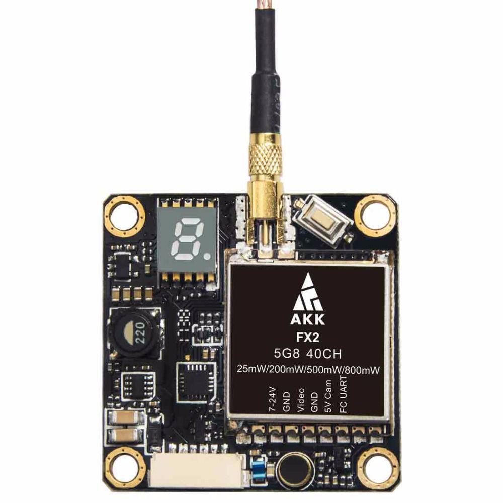 Transmissor de FPV AKK FX2 40 Canais 25mW / 500mW / 200mW / 800mW   - iFly Electric Hobby