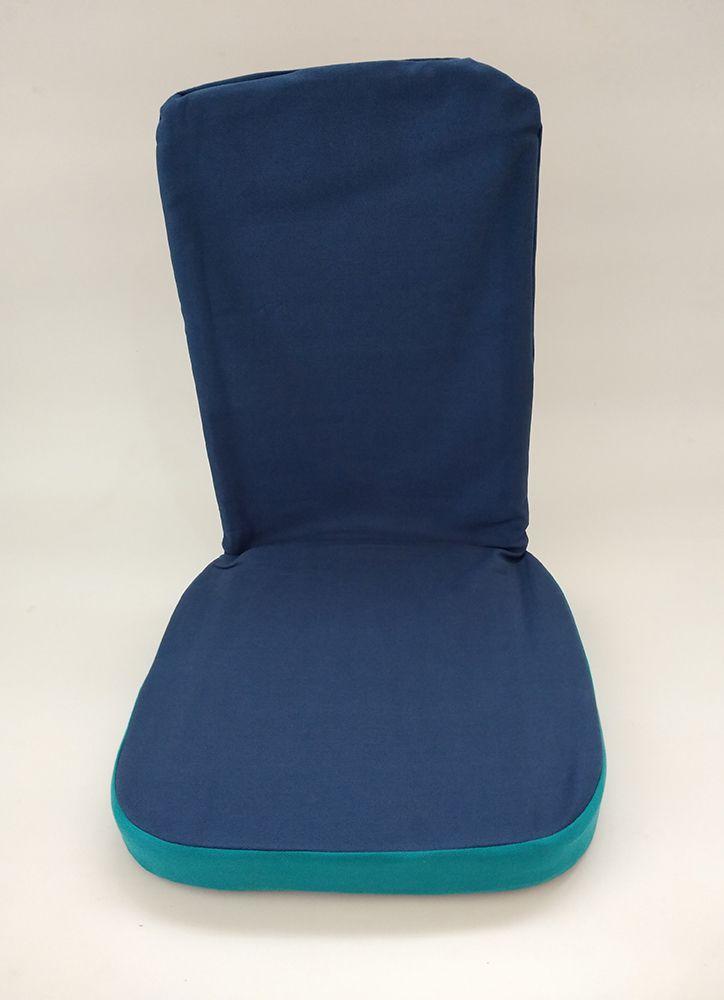 Cadeira de Meditação Dobrável Estrutura em Aço Assento Espuma Tecido Sarja Peletizada Futon Ekomat