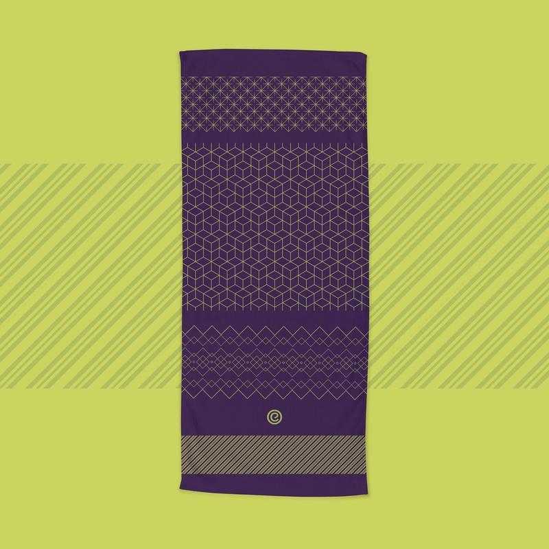 Toalha Yoga Antiderrapante Ekotowel 1,85mt x 68cm Ekomat
