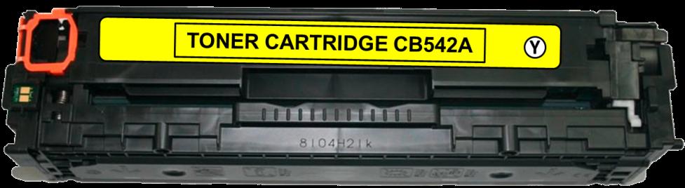Toner Compatível HP 125A – CB542A Amarelo  - Leste Cartuchos