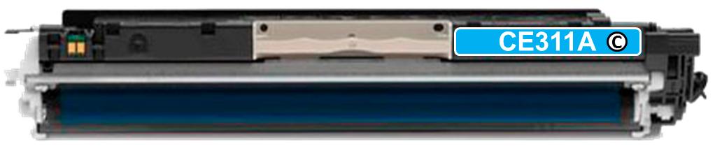 Toner Compatível HP 126A – CE311A Ciano  - Leste Cartuchos