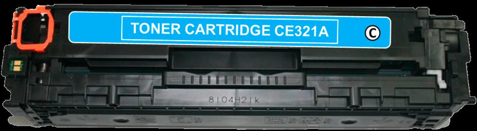 Toner Compatível HP 128A – CE321A Ciano  - Leste Cartuchos