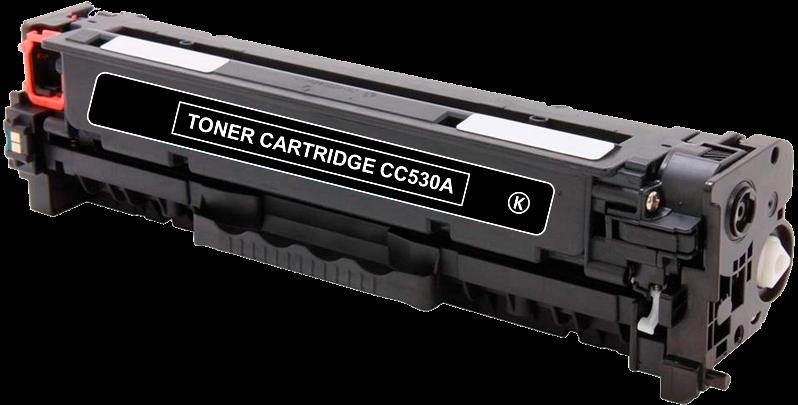 Toner Compatível HP 304A – CC530A Preto  - Leste Cartuchos