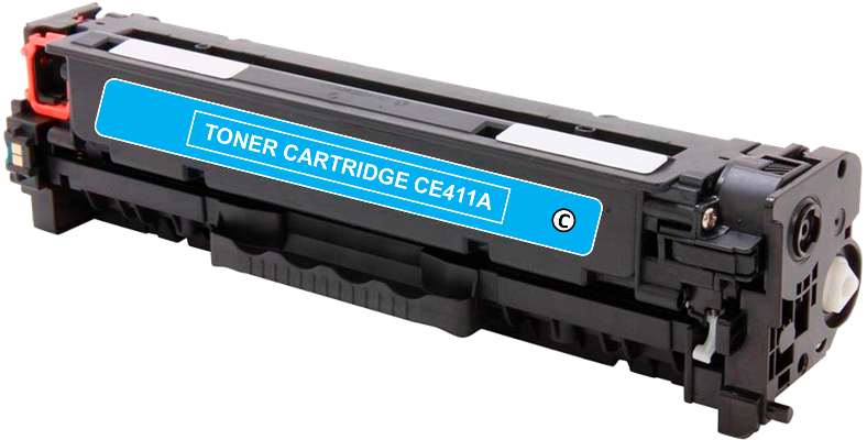 Toner Compatível HP 305A – CE411A Ciano  - Leste Cartuchos