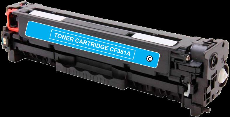 Toner Compatível HP 312A – CF381A Ciano  - Leste Cartuchos