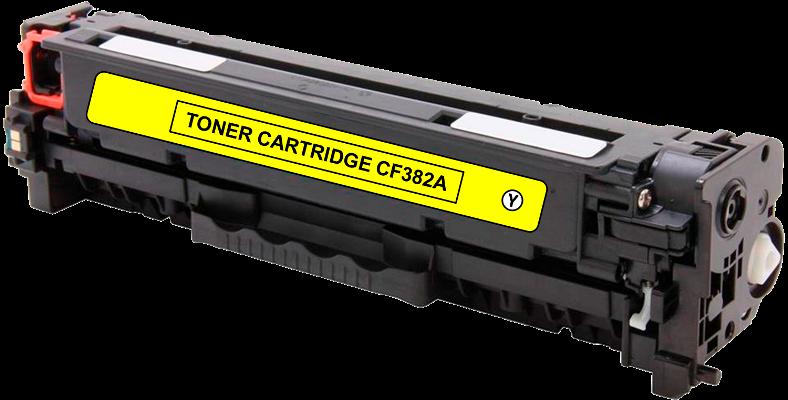 Toner Compatível HP 312A – CF382A Amarelo  - Leste Cartuchos