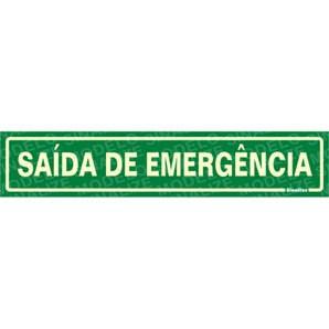 PLACA DE SINALIZAÇÃO SAÍDA DE EMERGÊNCIA 30x6,5 - 0,80mm