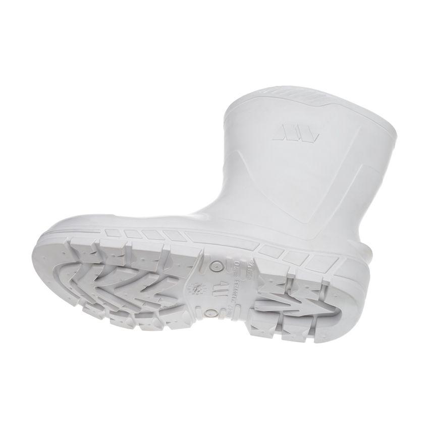 Bota PVC Cano Curto Branca Marluvas