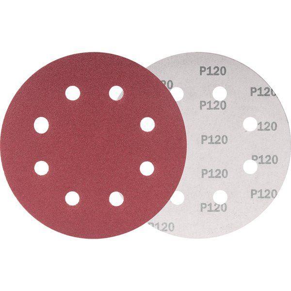 Disco De Lixa 180mm Grão 120 P/ Lixadeira Lpv750 Vonder 10 Unidades