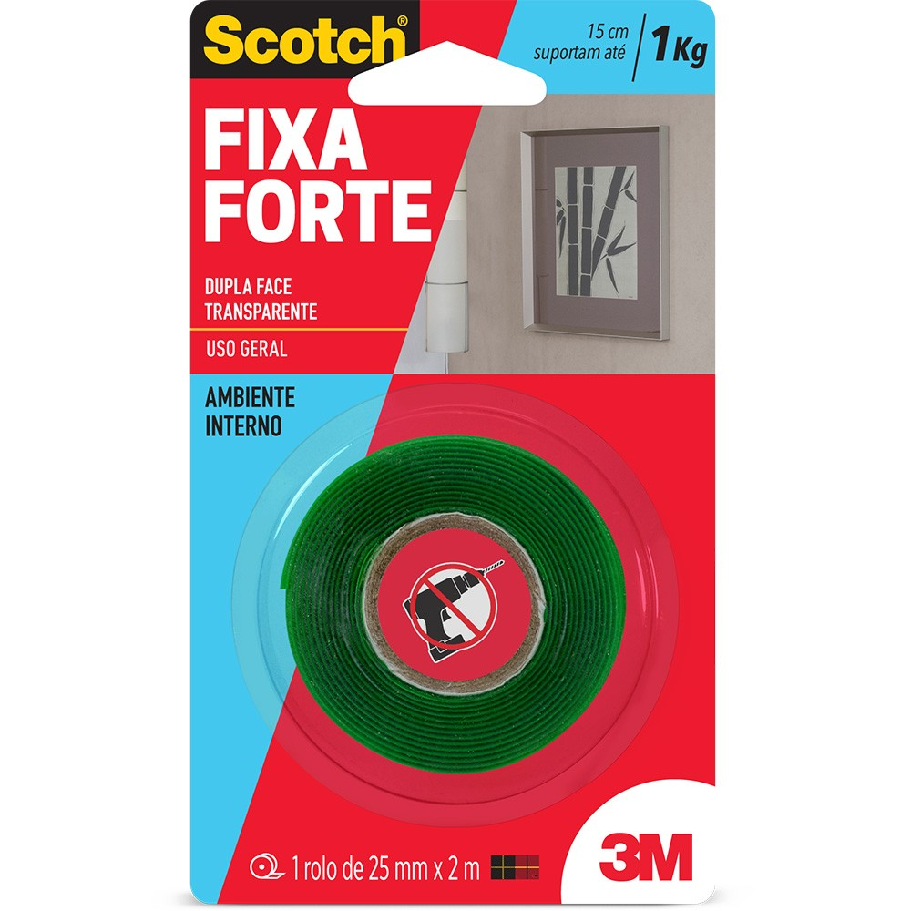 FITA FIXA FORTE 3M VHB 24mm X 2m