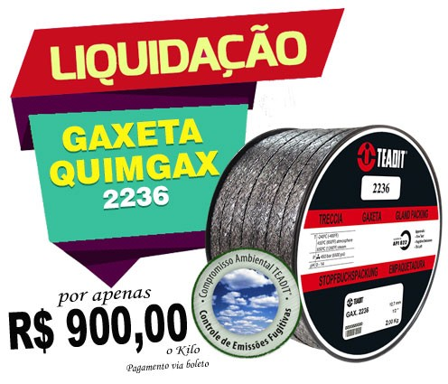 GAXETA QUIMGAX 2236 TEADIT 14,3mm 2Kg