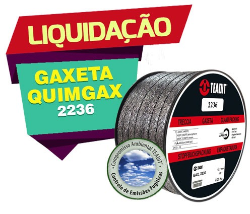 GAXETA QUIMGAX 2236 TEADIT 4,8mm 500gr