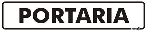 PLACA DE SINALIZAÇÃO PORTARIA 6,5X30CM