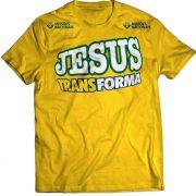 Camisa Jesus Transforma - Infantil - Amarela