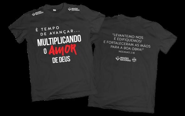 Camisa Multiplicando o Amor de Deus - Preta