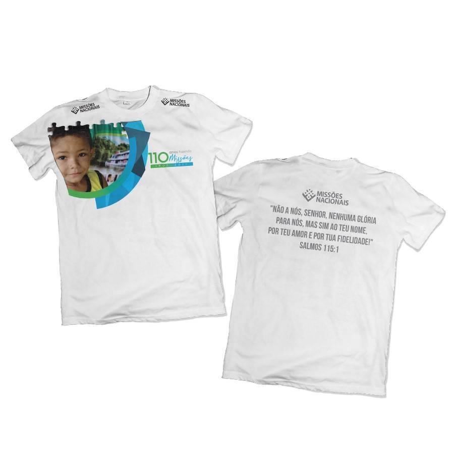 Camisa 110 Anos Fazendo Missões Branca
