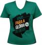 Camisa Vivo para Gl�ria de Deus - Verde Baby look - Livraria