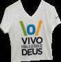 Camisa Vivo para Gl�ria de Deus - Branca - Livraria