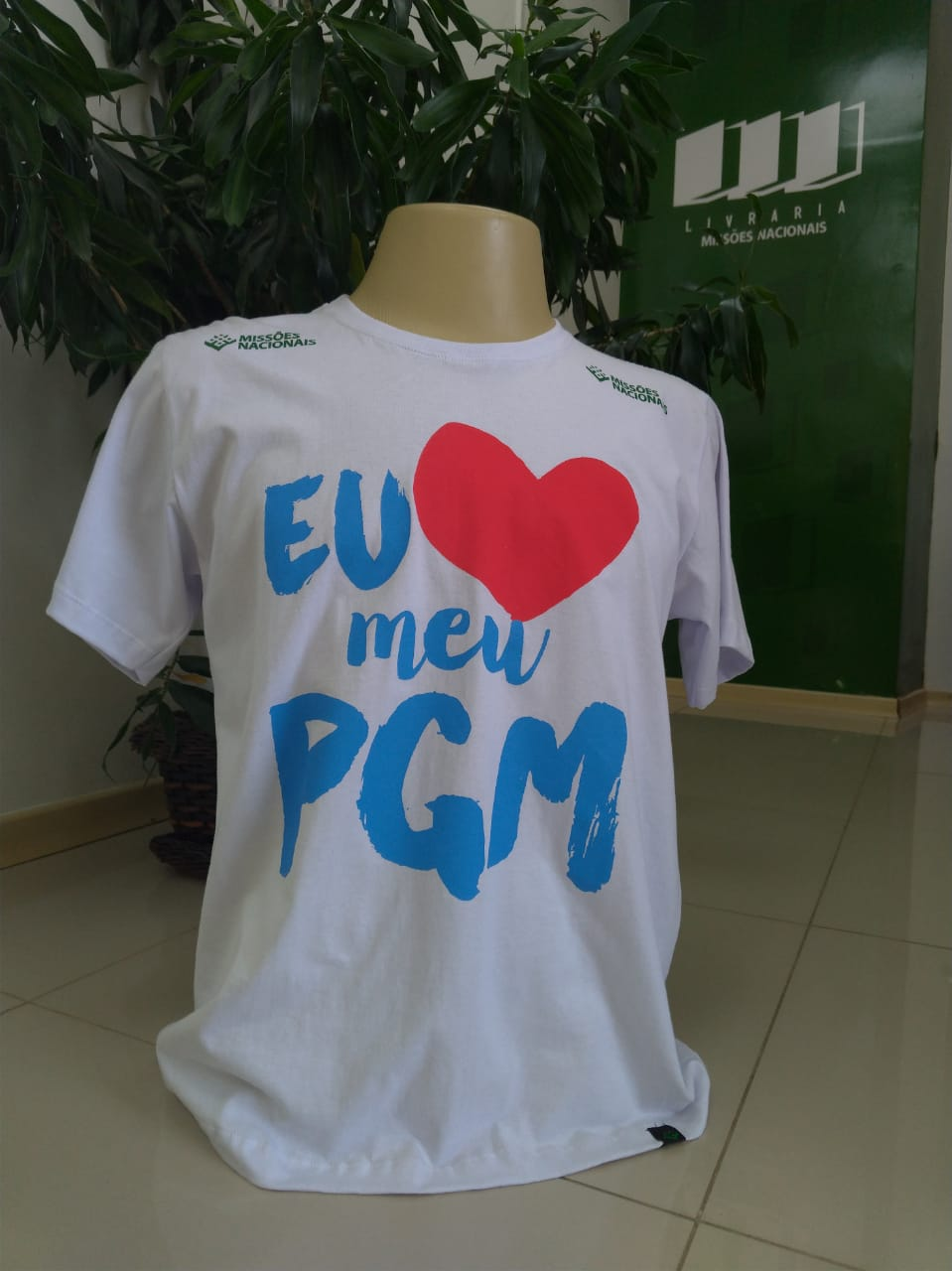 Camisa Eu amo meu PGM - Branca