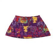 Saia shorts infantil estampada tie dye roxo