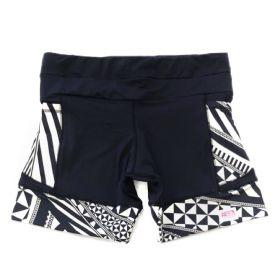 Shorts de compressão 1500 bolsos em compress preto com bolsos e barras estampado