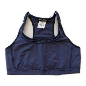 Top mil bolsos de compressão ajustável com bolsos frente e costas azul marinho