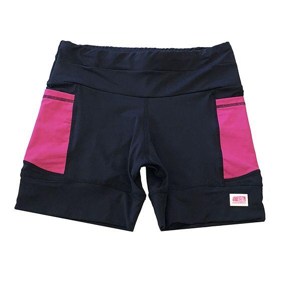Shorts de compressão 1500 bolsos em sportiva preto bolsos pink