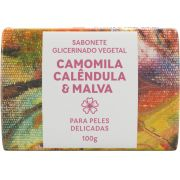 Sabonete Natural Green Life -  Camomila, Calêndula e Malva 100G