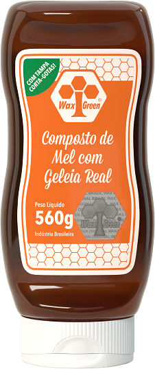 Composto de Mel com Geleia Real 560g   - Wax Green
