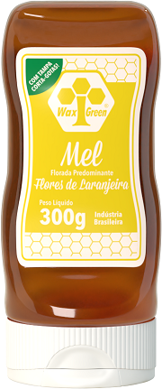 Mel Florada Predominante Flores de Laranjeira 300g  - Wax Green