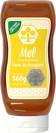 Mel Florada Predominante Flores de Laranjeira 560g  - Wax Green
