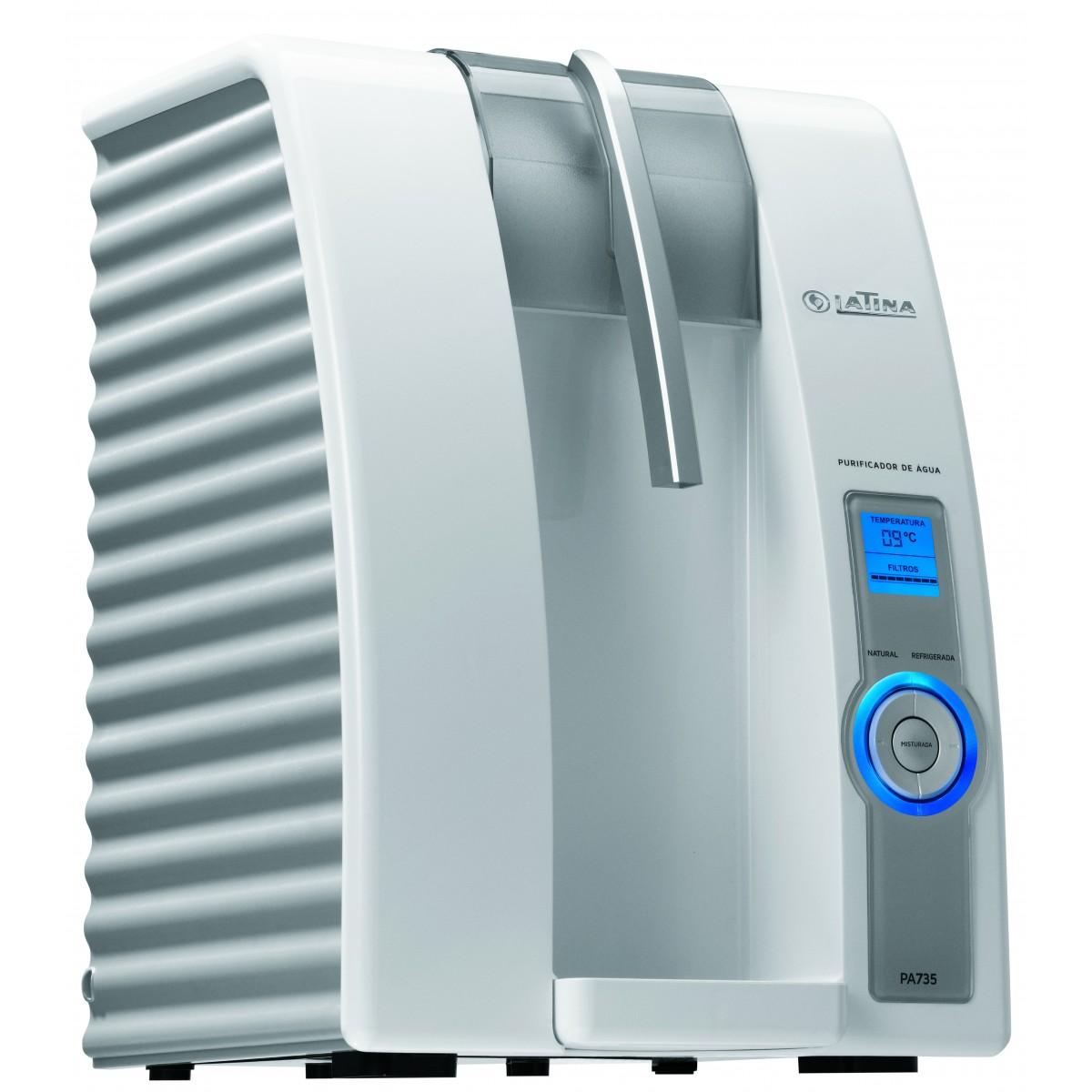 Purificador de Água Eletrônico Refrigerado Latina PA735 com Visor LED  - ShopNoroeste.com.br