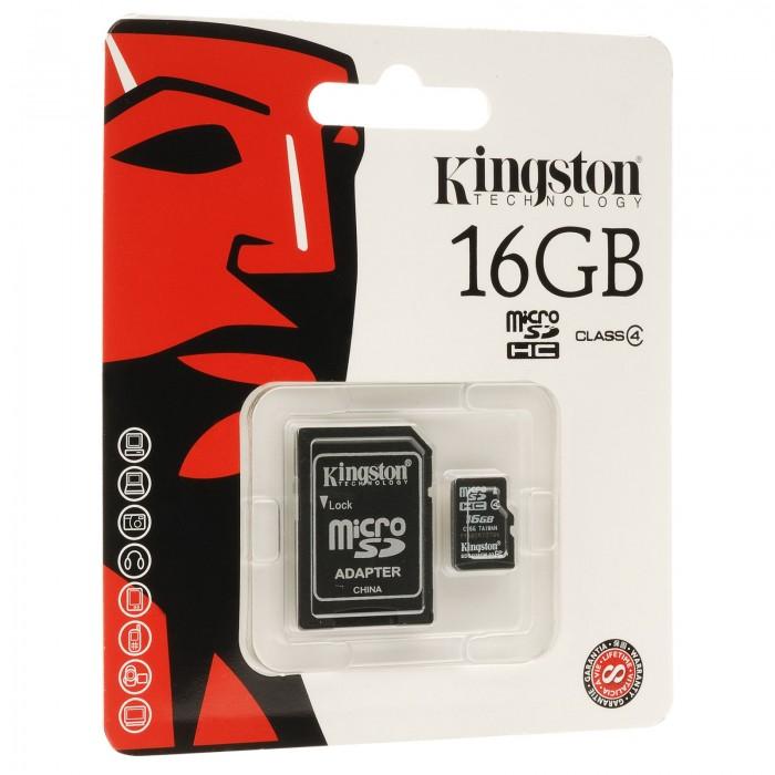 Cartão de Memória Kingston SDC4/16GB 16GB Micro SDHC  - ShopNoroeste.com.br