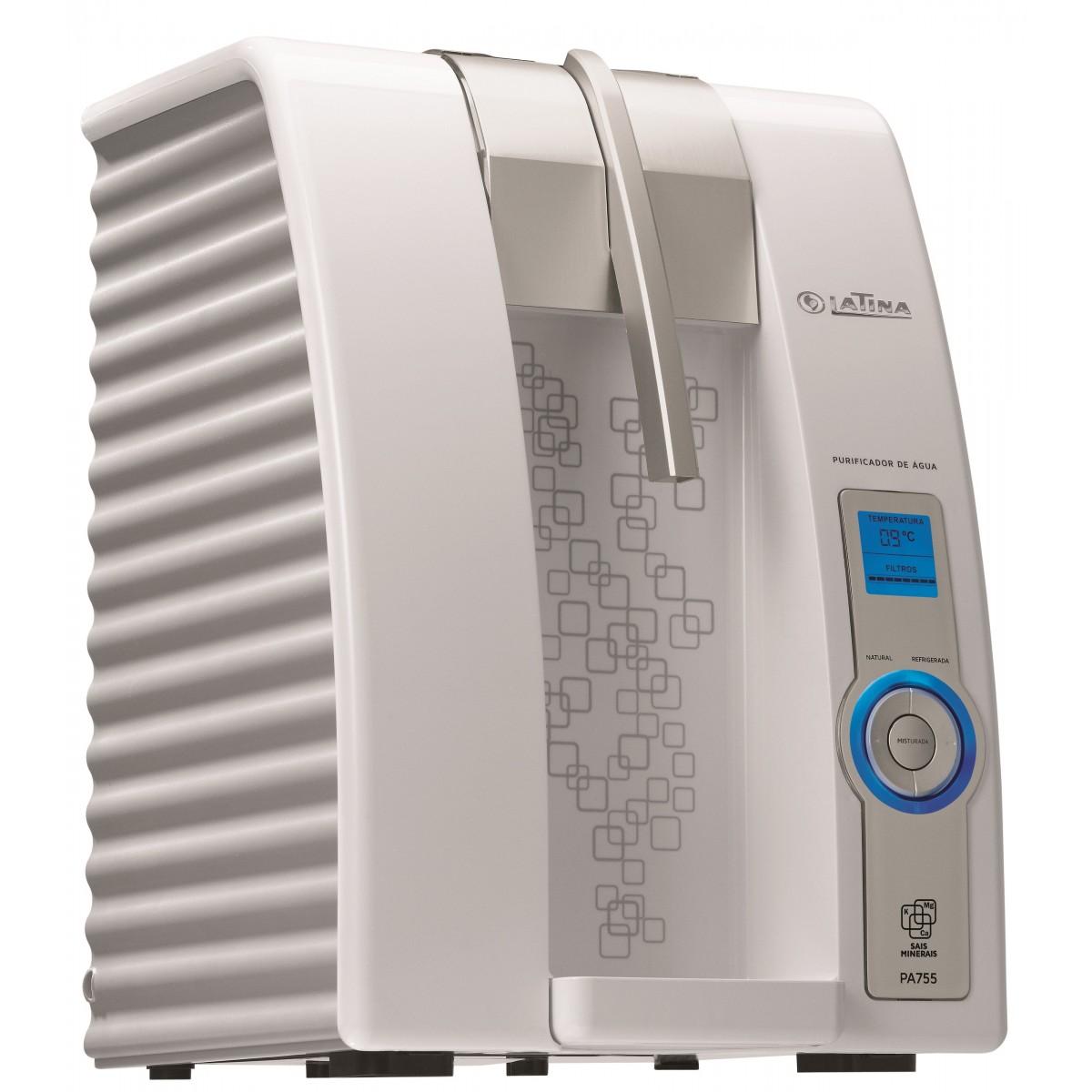 Purificador de Água Eletrônico Refrigerado Latina PA755 com Visor LED Branco  - ShopNoroeste.com.br