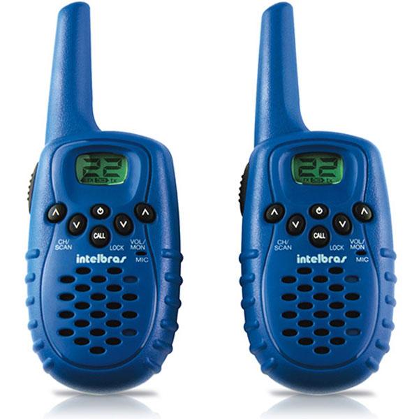 Radio Comunicador Intelbras Twin Fun 22 Canais 4 Km Azul  - ShopNoroeste.com.br