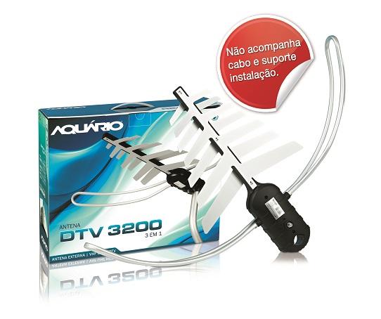 Áquario Antena Multifuncional DTV3200 VHF/UFH/HDTV  - ShopNoroeste.com.br