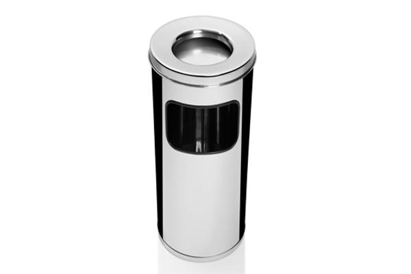 Lixeira com Cigarreira em Inox Polido CI67IP00 - Só Lixeiras  - ShopNoroeste.com.br