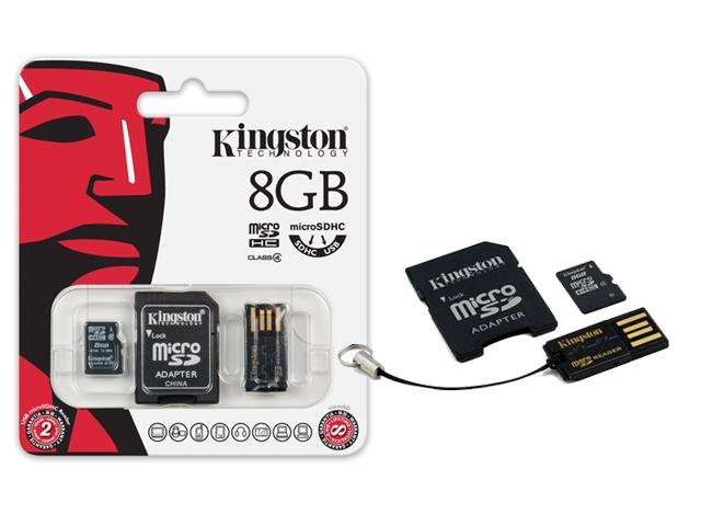 Cartão de Memória Kingston MicroSD Card 8GB + Leitor USB MBLY4G2/8GB  - ShopNoroeste.com.br