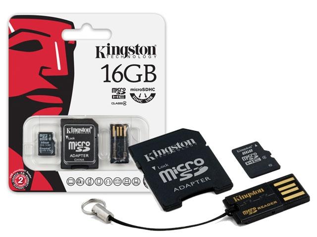 Cartão de Memória Kingston Micro USB Car 16GB + Leitor USB - MBLY4G2/16GB  - ShopNoroeste.com.br