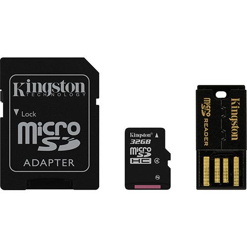 Cartão de Memória Kingston Micro USB Car 32GB + Leitor USB - MBLY4G2/32GB  - ShopNoroeste.com.br