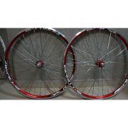 Roda para Bicicleta Aero Infinity R1 Aro 26, 36 Raios Vermelha  - Projema