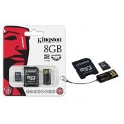 Cartão de Memória Kingston MicroSD Card 8GB + Leitor USB MBLY4G2/8GB