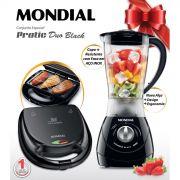 Conjunto Especial Pratic Duo Black Mondial KT-55 127V - Liquidificador + Sanduicheira