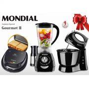 Conjunto Especial Gourmet II KT-56 Mondial 127V - Sanduicheira + Liquidificador + Batedeira