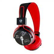 Fone de Ouvido Headset Multimídia Preto/Vermelho C3 Tech - MI-2358RR