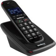 Telefone Sem Fio DECT 6.0 com Identificador de Chamadas e Viva Voz TS 63V Preto Intelbras