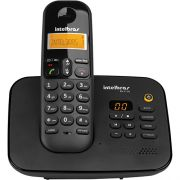 Telefone sem Fio Digital Intelbras TS3130 Preto com Secretária Eletrônica