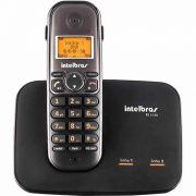 Telefone Sem Fio Intelbras Com Entrada Para Duas Linhas TS 5150 - Preto