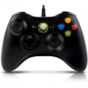 Joystick Microsoft para Xbox360/PC com Fio Preto - S9F-00001