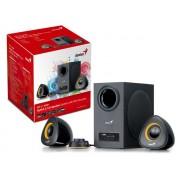 SubWoofer Genius 2.1 SW-2.1 800P 20W RMS c/ Entrada USB/SD, FM e MP3 - Preto - 31731051100